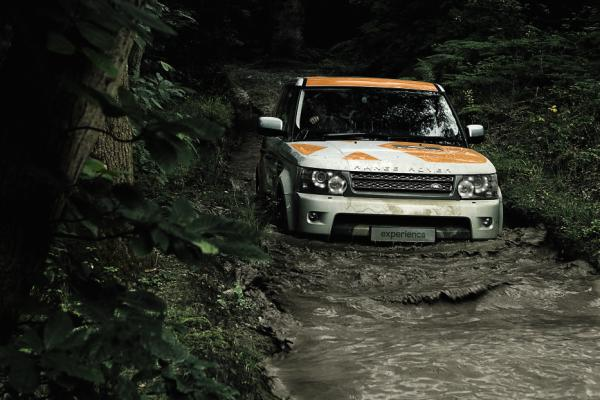In the mud- Land Rover Experience