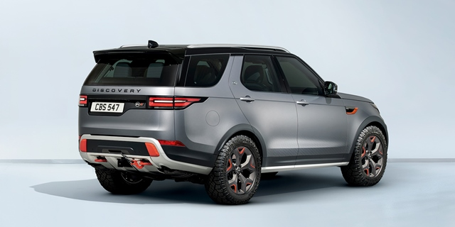 640X320 Discovery SVX Rear Studio - LAND ROVER ONTHULT DE DISCOVERY SVX